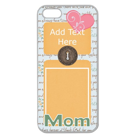 Dear Mom Iphone 5 Case By Bitsoscrap   Apple Seamless Iphone 5 Case (clear)   Kiyu91208pba   Www Artscow Com Front