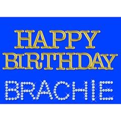 Brachie By Adina Haller   Heart Bottom 3d Greeting Card (7x5)   Jcg9stntq09f   Www Artscow Com Front