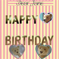 3d Birthday Card  With Your Photo , Messages   And   Teddy Bears By Riksu   Happy Birthday 3d Greeting Card (8x4)   N56h1vgs7xke   Www Artscow Com Inside