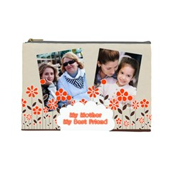 Mothers Day By Mom   Cosmetic Bag (large)   Ikg4lh2kdicw   Www Artscow Com Front