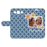 flower kids - Samsung Galaxy S3 Woven Pattern Leather Folio Case