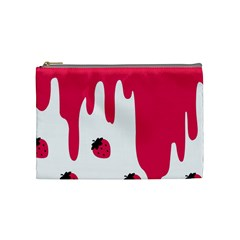 Melting Strawberry Medium Makeup Purse by strawberrymilk