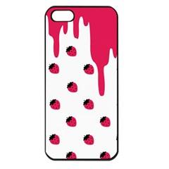 Melting Strawberry Apple Iphone 5 Seamless Case (black) by strawberrymilk