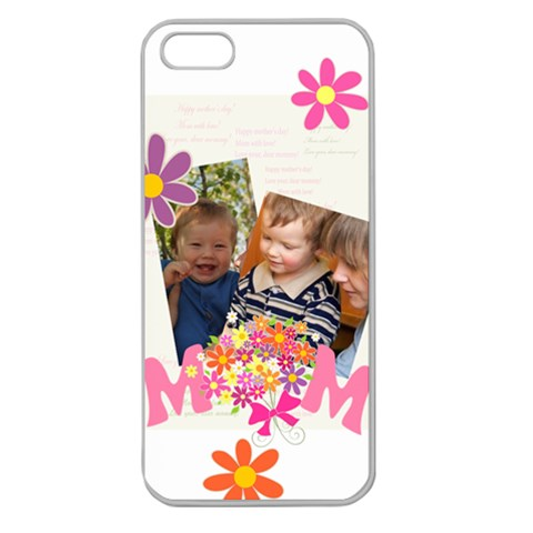 Mothers Day By Divad Brown   Apple Seamless Iphone 5 Case (clear)   Kt2e45jfjcxm   Www Artscow Com Front