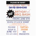 Surprise Birthday Invitation - 5  x 7  Photo Cards