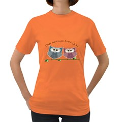Owl always love you, cute Owls Dark Colored Womens'' T-shirt