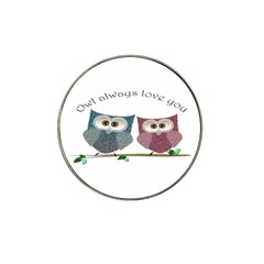 Owl Always Love You, Cute Owls 4 Pack Golf Ball Marker (for Hat Clip) by DigitalArtDesgins