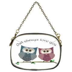 Owl Always Love You, Cute Owls Twin Sided Evening Purse by DigitalArtDesgins