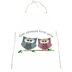 Owl Always Love You, Cute Owls Apron by DigitalArtDesgins