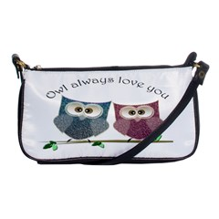 Owl Always Love You, Cute Owls Evening Bag by DigitalArtDesgins