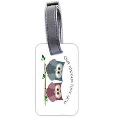 Owl Always Love You, Cute Owls Single Sided Luggage Tag by DigitalArtDesgins