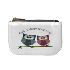 Owl Always Love You, Cute Owls Coin Change Purse by DigitalArtDesgins