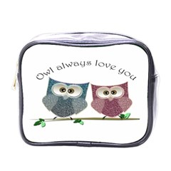 Owl Always Love You, Cute Owls Single Sided Cosmetic Case by DigitalArtDesgins