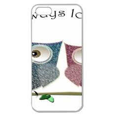 Owl Always Love You, Cute Owls Apple Seamless Iphone 5 Case (clear) by DigitalArtDesgins