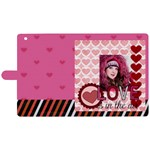 love - Apple iPad 3/4 Woven Pattern Leather Folio Case