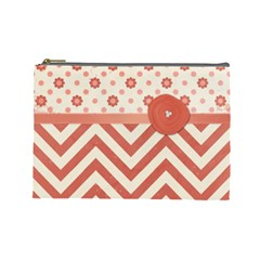 Large Makeup Bag By Emily   Cosmetic Bag (large)   G8vqakq5kbo2   Www Artscow Com Front