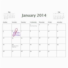 Tali7 By Aviva   Wall Calendar 11  X 8 5  (12 Months)   80ru6a2bp4e9   Www Artscow Com Jan 2014