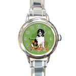 Landseer Newfoundland Italian charm watch - Round Italian Charm Watch