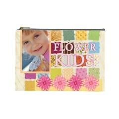 Flower Kids By Jo Jo   Cosmetic Bag (large)   Bdoeqrmevnaw   Www Artscow Com Front