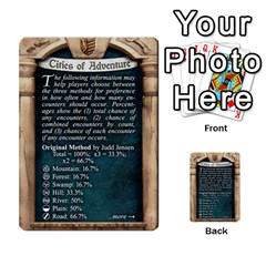 Cities Of Adventure: Reference Cards By Fantastic Diversions / Ofgi   Multi Purpose Cards (rectangle)   R4p0zmf66r2a   Www Artscow Com Back 10