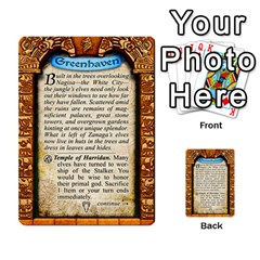 Cities Of Adventure: Reference Cards By Fantastic Diversions / Ofgi   Multi Purpose Cards (rectangle)   R4p0zmf66r2a   Www Artscow Com Back 27