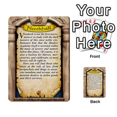 Cities Of Adventure: Reference Cards By Fantastic Diversions / Ofgi   Multi Purpose Cards (rectangle)   R4p0zmf66r2a   Www Artscow Com Back 5