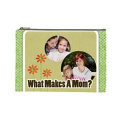 Mothers Day By Mom   Cosmetic Bag (large)   6wjtz2z4qz7z   Www Artscow Com Front