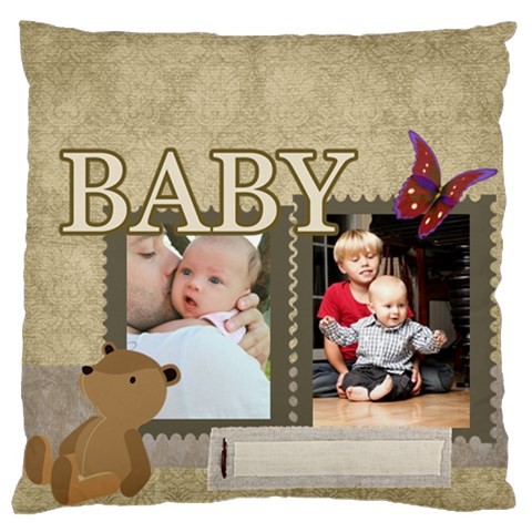 Baby By Baby   Large Cushion Case (one Side)   2ripb2jqhuho   Www Artscow Com Front