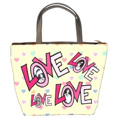 Love Bucket Bag By Joy Johns   Bucket Bag   3vfpxer8hbnk   Www Artscow Com Back