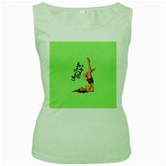 Pin Up Girl 4 Green Womens  T Shirt by UberSurgePinUps