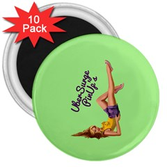 Pin Up Girl 4 10 Pack Large Magnet (round) by UberSurgePinUps