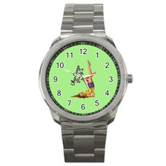 Pin Up Girl 4 Stainless Steel Sports Watch (round)