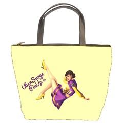 Pin Up Girl 1 Bucket Bag by UberSurgePinUps