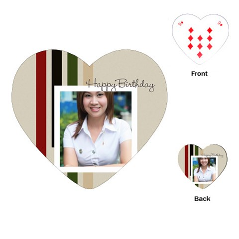 Happy Birthday By Jo Jo   Playing Cards (heart)   Fa2xd5h5lsz9   Www Artscow Com Front