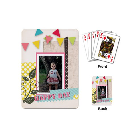 Happy Birthday By Jo Jo   Playing Cards (mini)   6e2qaovx2lm4   Www Artscow Com Back