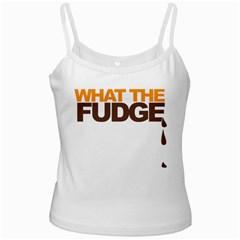 What The Fudge White Spaghetti Top by VaughnIndustries