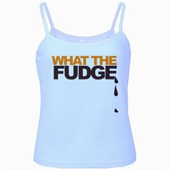 What The Fudge Baby Blue Spaghetti Top by VaughnIndustries