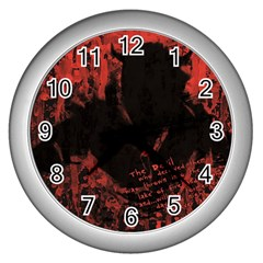 Tormented Devil Silver Wall Clock by VaughnIndustries