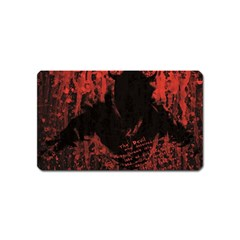 Tormented Devil Name Card Sticker Magnet by VaughnIndustries