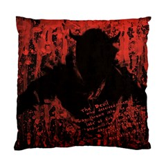 Tormented Devil Twin Sided Cushion Case by VaughnIndustries