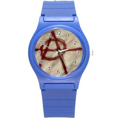 Anarchy Round Plastic Sport Watch Small by VaughnIndustries