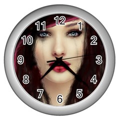 Beautiful Mess Silver Wall Clock by VaughnIndustries
