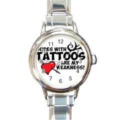 Dudes With Tattoos Classic Elegant Ladies Watch (round) by VaughnIndustries