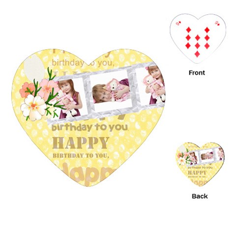Happy Birthday By Jo Jo   Playing Cards (heart)   Lb4jovjjum6v   Www Artscow Com Front