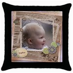 Named and Framed Throw Pillow - Throw Pillow Case (Black)