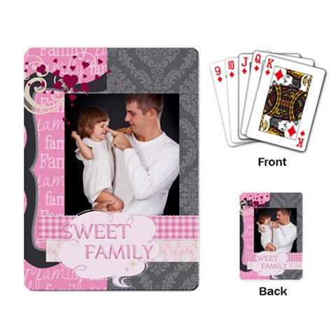 Kids By Jo Jo   Playing Cards Single Design   Xa43meir69h4   Www Artscow Com Back