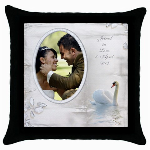 Our Love Throw Pillow By Deborah   Throw Pillow Case (black)   Bkn2wxynkipr   Www Artscow Com Front