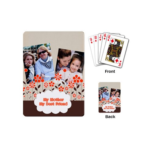 Mothers Day By Mom   Playing Cards (mini)   5za6yy715qt0   Www Artscow Com Back