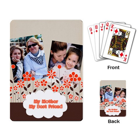 Mothers Day By Mom   Playing Cards Single Design   Wicodgay1hvd   Www Artscow Com Back