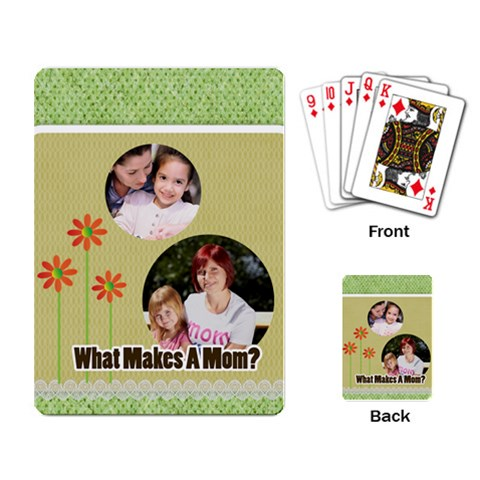 Mothers Day By Mom   Playing Cards Single Design   7libnpwjuh74   Www Artscow Com Back